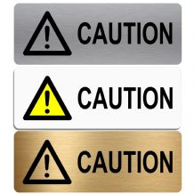 Caution-WITH IMAGE-Aluminium Metal Sign-Door,Notice,Shop,Office,Business,Cafe,Pub,Secure,Safety